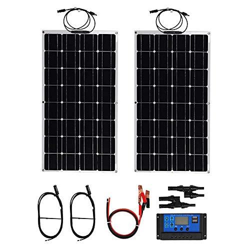 200 W Faltbares Solarmodul Monokristallines IP65-Solarpanel Modul Solarpanel Wohnmobil mit Solar-Laderegler zum Laden von Mobiltelefonen und mobilen Netzteilen, 105 x 54 x 0,5 cm