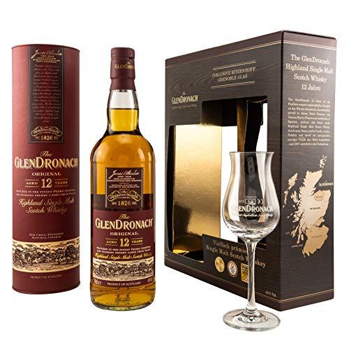 The GlenDronach - 12 Jahre - Geschenkset mit Ritzenhoff Tasting Glas - Highland Single Malt Scotch Whisky - (1 x 0.7 L)