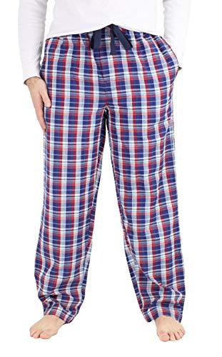 IZOD Men's Soft Touch Woven Pajama Sleep Pants, Navy, Large