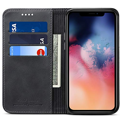 Wallet Case Compatible 2019 iPhone 11 Pro, PU Leather Stand View Kickstand Magnetic Folio Book Style...
