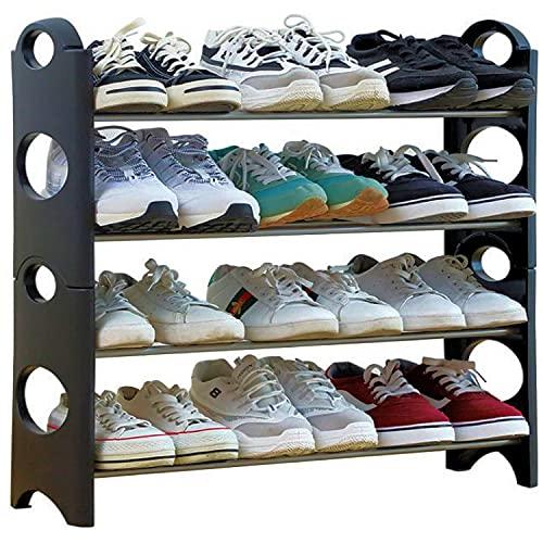 Zapatero de pie para 12 pares – Estantería organizadora para zapatos de gimnasia, tacones, botas, zapatos, tamaño pequeño 65 x 65 cm