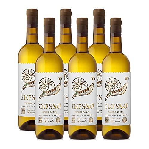 Vino Blanco Menade Nosso Verdejo Natural de 75 cl - D.O. Rueda - Bodegas Menade (Pack de 6 botellas)