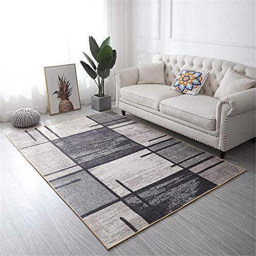 Kunsen alfombras Salon Modernas habitacion Bebe Alfombra Rectangular Gris Antideslizante Anti-caída Sucia mesas Comedor Grandes 160X200CM 5ft 3' X6ft 6.7'