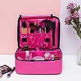 Große professionelle Kulturtasche Kosmetiktasche für Damen, tragbar, atmungsaktiv, mit Klett-Trennwand, für Kosmetik, Make-up, Pinsel, Beauty-Werkzeug