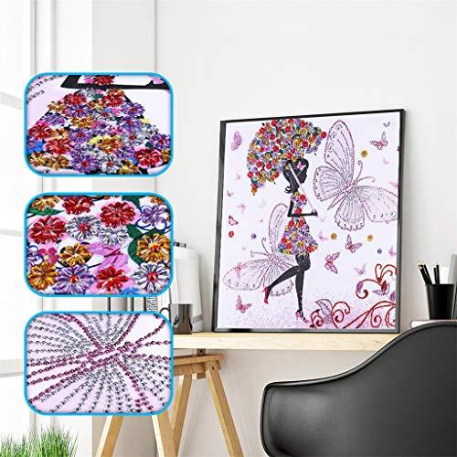 Janly liquidación venta DIY pintura de diamante, 5D parcial taladro cruz punto cuadrado diamante Sets cristal diamante bordado cuadros Kits arte arte para decoración del hogar