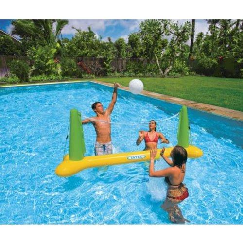 Intex Aufblasbares Volleyball-Spielset fürs Schwimmbad, für Erwachsene, schwimmender Spielspaß