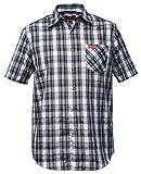 Fifty Five Hemd Herren Kurzarm Andre Blue/Black L Wanderhemd Funktions Shirt Freizeithemd Kariert