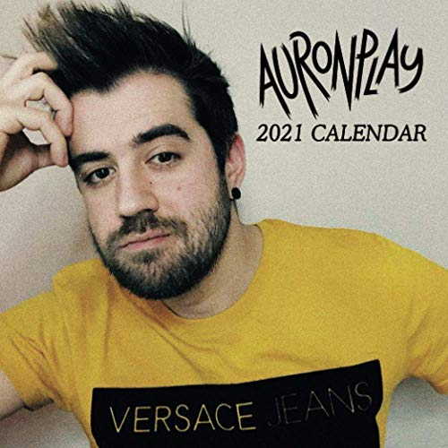 Auronplay: 12 - Month Calendar 2021 - Mini size 7''x7'' - Twitch Calendar