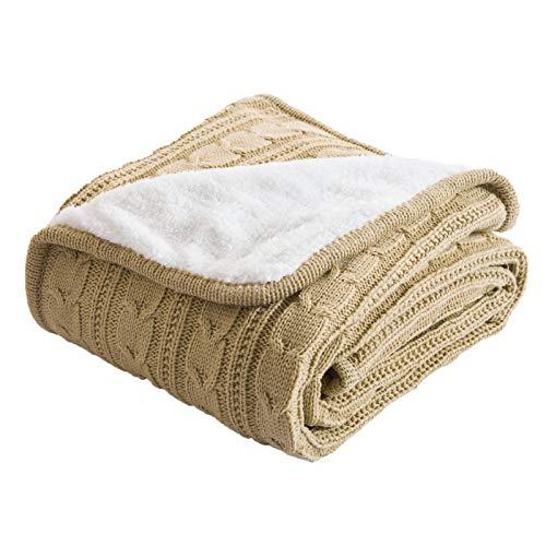 LYDK Manta de lana de cachemira imitada para otoño e invierno, doble torsión, sofá de ocio, aire acondicionado, 120 x 180 cm