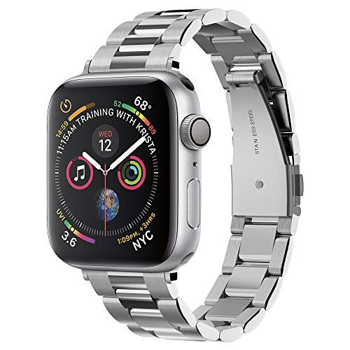 Spigen Modern Fit Compatible con Apple Watch Band para 38 mm / 40 mm Serie 4 / Serie 3 / Serie 2/1 / Original (2015) - Plateado