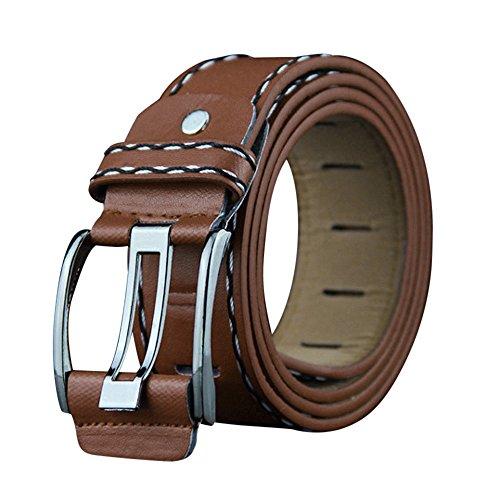 Janly Clearance Sale Cinturón de cuero suave para hombre, cinturón de cinturón de seguridad, cinturón (tamaño libre)
