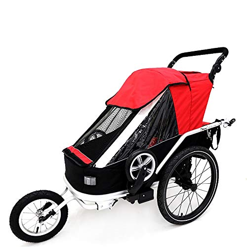 Best Bargain Child Bike Trailer Kids Bicycle Trailer Single Passenger Children's Foldable Tow Behind...