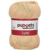 Puppets Lyric Stärke 4 4572004-05003 hellbraun Häkelgarn, 100 % Baumwolle