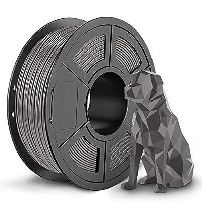 SUNLU Shiny SPLA Filament, 3D Printer Filament SPLA, Upgraded PLA Filament in 2020, 1.75mm +/- 0.02 mm, 1KG Grey