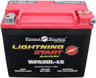 Harley FLST Heritage Softail 500cca Lightning Start 20ah High Performance Sealed AGM Motorcycle Battery replacement for year 1991, 1992, 1993, 1994, 1995, 1996, 1997, 1998, 1999, 2000, 2001, 2002, 2003, 2004, 2005, 2006, 2007, 2008, 2009, 2010, 2011, 2012, 2013