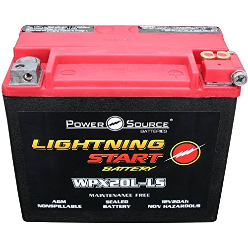 Harley FLST Heritage Softail 500cca Lightning Start 20a Motorcycle Battery replacemnt 1991 1992 1993...