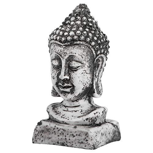 Balacoo Estatua de Cabeza de Buda Estatuilla de Acuario Budista Pecera Paisaje Modelo de Buda Estatua de Meditación Zen Escultura Decoración