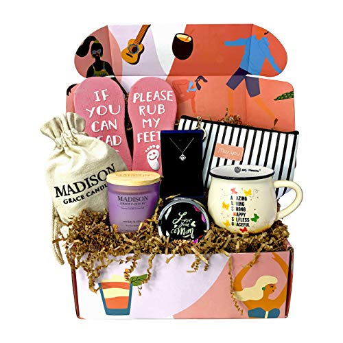 Gift Box for Mother by Silly Obsessions. Birthday Gift Basket for Mom, Wife, Women. Gift Box Set for New Mom, Baby Shower.