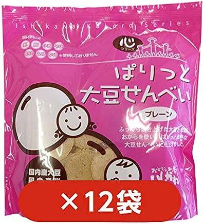 【12袋】ぱりっと大豆せんべいプレーン