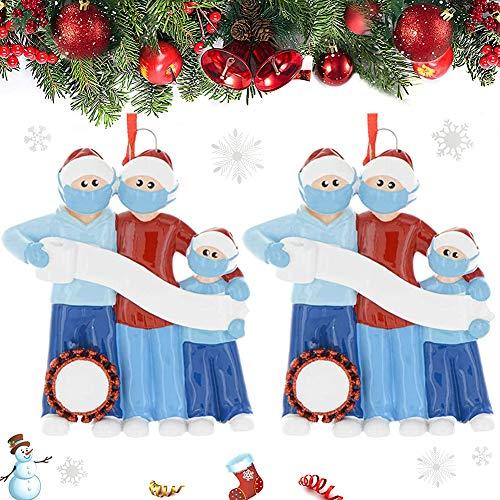BAIBEI 2020 Anno Famiglia di Decorazione di Vacanza Ornamento di Natale sopravvissuta Ornamenti di...