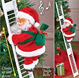 Nai-Style Papá Noel Que Sube Escalera eléctrica Santa Claus árbol de Navidad Ornamento Colgante de la decoración del hogar del Partido