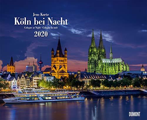 Köln bei Nacht 2020 – Wandkalender 52 x 42,5 cm – Spiralbindung
