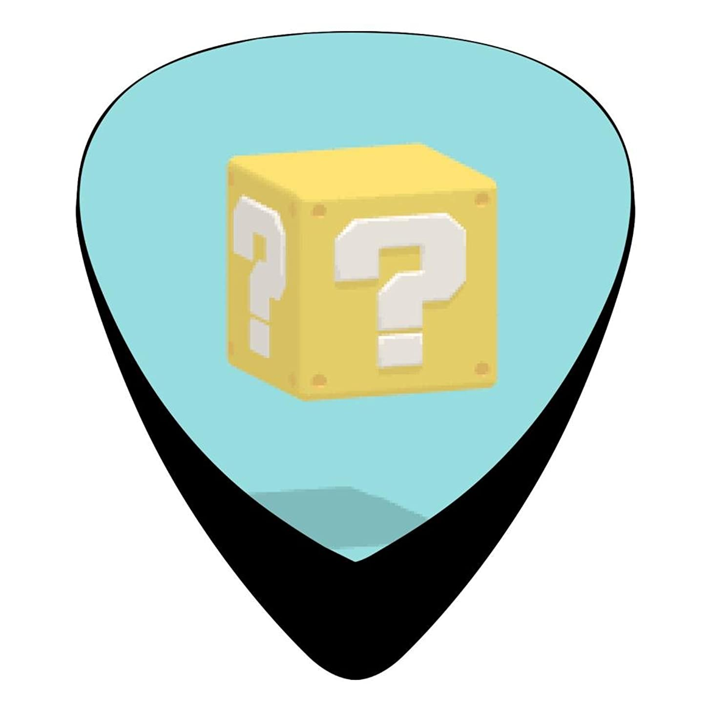 Guitar Picks Celluloid Question Mark Rubiks Cube 12 Pack Shape For Acoustic Guitar Mandolin Electric Guitar And Bass
