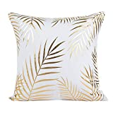 DEELIN Home Party Coffee Club Decor Fashion Gold Foil Printing Square Pillow Case Waist Throw Cushion Cover