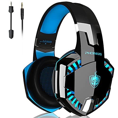 CZYNB Auriculares de Juegos inalámbricos 7.1 Sonido Envolvente Reducción de Ruido Activo Micrófono Desmontable Auriculares Bluetooth para Xbox One PC PS4 Teléfono portátil
