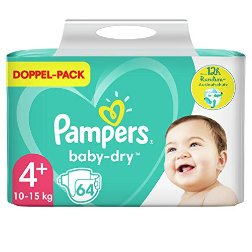Pampers Baby Dry Gr.4+ Maxi Plus 10-15kg Doppelpack