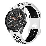 Syxinn Compatible con Samsung Galaxy Watch 46mm Correa Gear S3 Frontier Classic Correas 22mm Pulsera Silicona Deportiva Banda para...