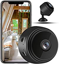 2021 New Mini Camera ,Security Cameras with Audio and Video Recording,1080p HD Security Cameras Indoor/Outdoor Wireless Video Recorder Infrared Night Vision Cameras(Blu-ray) (Black)