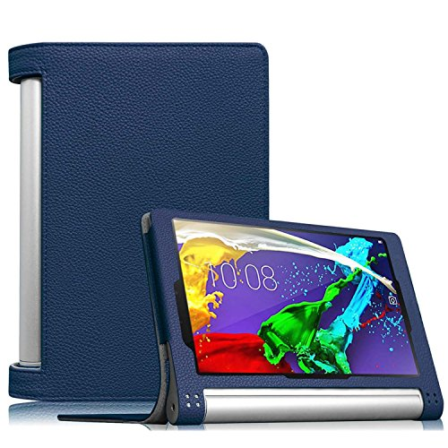 【Fintie】 Lenovo YOGA Tablet 2 8 インチ 専用保護ケース 超薄型 軽量 スタンド型カバー 高級PU レザー ...
