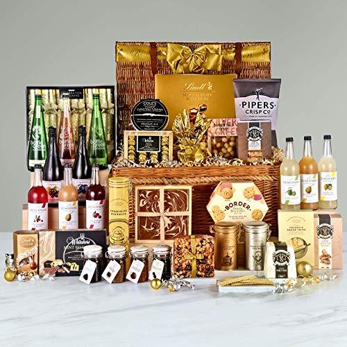 Blenheim Indulgence Hamper - Alcohol-Free - Hand Wrapped Gourmet Food Basket, in Gift Hamper Box