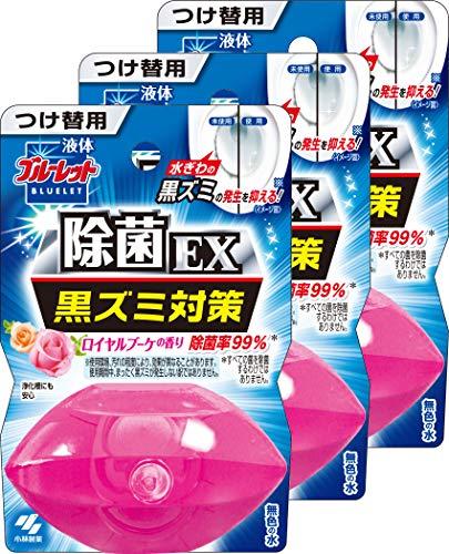 【まとめ買い】液体ブルーレットおくだけ除菌EX トイレタンク芳香洗浄剤 詰め替え用 ロイヤルブーケ 70ml×3個
