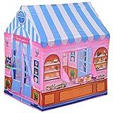 HOMCOM Tienda de Juego de Niños Dulcería para Jugar Zona Infantil Educativo Estable Fácil de Montar Regalo para Niños 93x69 x103cm Rosado