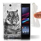 Hülle Für Sony Xperia Z Ultra Zoo-Tiere Tiger Design Transparent Dünn Flexibel Silikon Gel/TPU Schutz Handyhülle Case