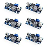 ( 6 Pcs ) MCIGICM LM2596 Buck Converter, DC to DC 3.0-40V to 1.5-35V Step Down Power Supply High Efficiency Voltage Regulator Module