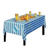 JOKILY Oktoberfest Tischtuch Bayrisch Blau Tischdecken, Oktoberfest Bayerische Flagge Check Tischdecke für Oktoberfest Party Dekorationen & Zubehör (1 Stück)