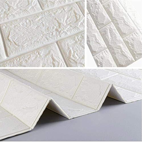 77X15 Cm 3D Pe Espuma Pegatinas De Pared Ladrillo Blanco Impermeable Bricolaje Decoración De La Habitación Del Hogar