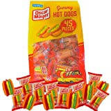 Bulk Individually Wrapped Oscar Mayer Gummy Hot Dog Candies, Ballpark Dogs Gummies Halloween Trick or Treat and Party Favors, 14.3 Ounces, 45 Pieces
