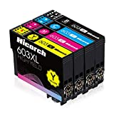 Hicorch 603XL Cartucce Compatibile con Epson 603 XL Multipack per Epson Expression Home XP-2100 XP-2105 XP-3100 XP-3105 XP-4100 XP-4105, Epson Workforce WF-2810 WF-2830 WF-2835