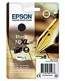 Epson C13T16314012 - Cartucho de tóner adecuado para WF2010, color negro, paquete estándar, XL válido para los modelos WF-2010W, WF-2510WF y otros