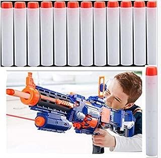 Yosoo 50pcs 7.2cm Toy Gun Soft Bullet Toy Bullet Refill Darts Sniper Bullet Blaster for Nerf N-Strike Mega Centurion Toy Gun(Silver white)