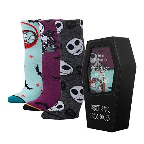 Nightmare Before Christmas Crew Socks - 3-Pack