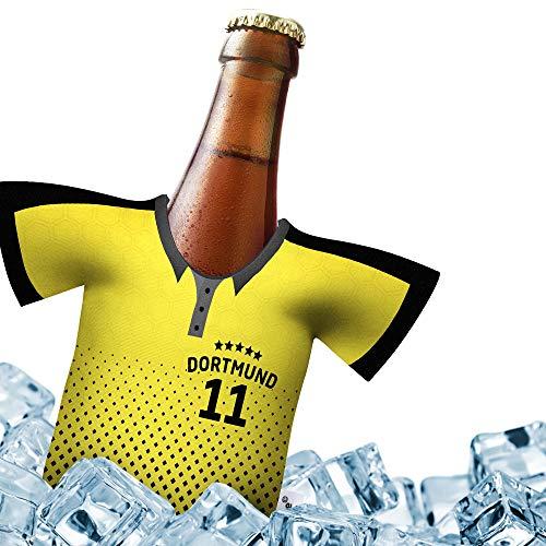 Herren Trikot 2019/20 kühler Home für Dortmund Fans | FUßBALL-Gott | 1x Trikot | Fußball Fanartikel Jersey Bierkühler by ligakakao.de