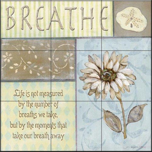 Ceramic Tile Mural - Breathe - por Jo Moulton - azulejos Azulejos de la cocina/baño splashback