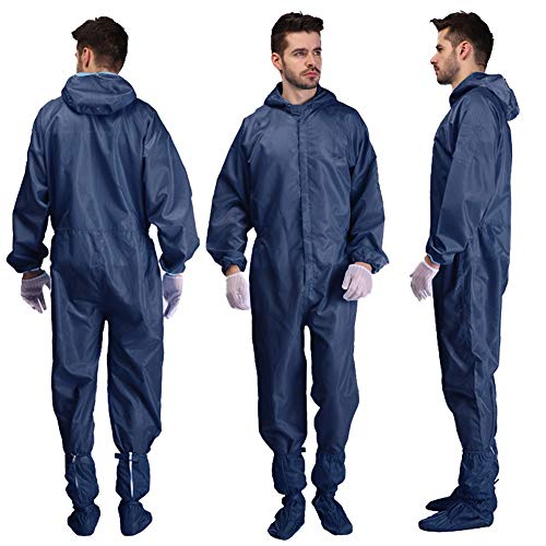 WFLJ herbruikbare, wasbare werkkleding, beschermend pak met capuchon en schoenafdekking, unisex voor schilderkunst op chemische aerosol-industrie.