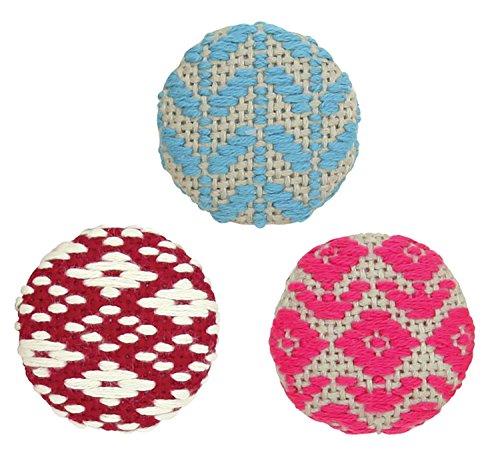 オリムパス製絲 こぎんキット くるみボタン お花 3個セット こぎん56