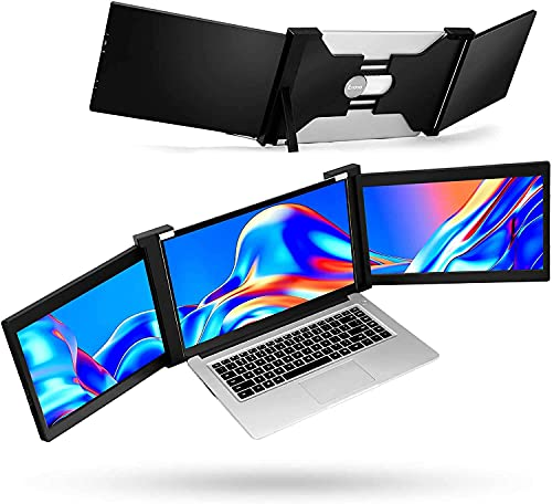 Eyoyo Portable Triple Screen Laptop Workstation External Monitor for Laptop USB C Monitor Compatible with 13-17 Mac PC HD 1080P IPS Dual Display - 11.6 inch